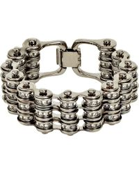 Mawi - Metallic Crystal Triple Link Bike Chain Bracelet - Lyst