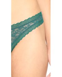 Free People - Green Dreams Do Come True Thong - Plum - Lyst