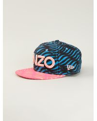 KENZO | Blue Zebra Striped Cap | Lyst