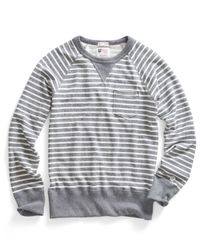 Todd Snyder | Gray Pocket Sweatshirt In Grey Heather Stripe for Men | Lyst