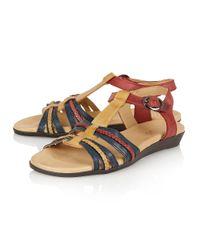 Lotus - Natural Nerissa Open Toe Sandals - Lyst