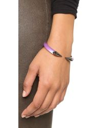 Alexis Bittar | Purple Mirrored Pyramid Brake Hinge Bracelet - Magenta | Lyst