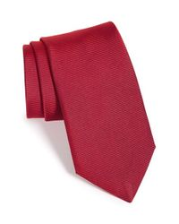 Thomas Pink - Red Solid Silk Tie for Men - Lyst