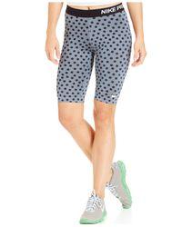 Nike | Blue Pro Dot-print Dri-fit Knee-length Shorts | Lyst