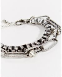 ASOS | Metallic Chain Bracelet Pack In Silver for Men | Lyst