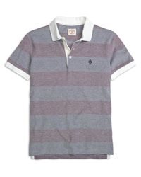 Brooks Brothers - Purple Wide Stripe Polo Shirt for Men - Lyst