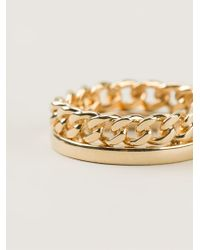 Chloé | Metallic Chain Ring | Lyst