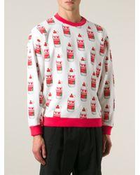 Au Jour Le Jour - Red Glue Print Sweatshirt for Men - Lyst