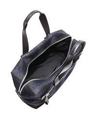 Lanvin - Blue Mens Tartan and Calfskin Bowling Bag - Lyst