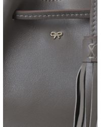 Anya Hindmarch - Gray Vaughn Leather Tote - Lyst