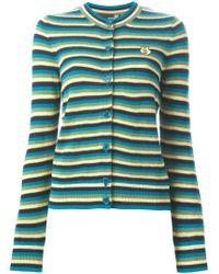 Love Moschino - Blue Striped Cardigan - Lyst