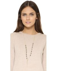 Heather Hawkins - Metallic Ink Necklace - Gold/grey - Lyst