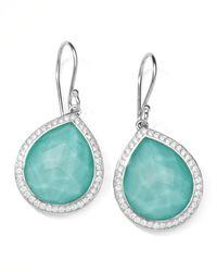 Ippolita | Metallic Stella Teardrop Earrings In Turquoise Doublet With Diamonds | Lyst
