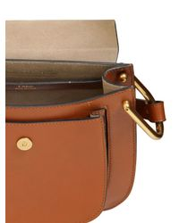Chloé - Brown Small Hudson Studs Leather W/braids Bag - Lyst