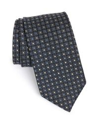 JZ Richards | Black Medallion Silk Tie for Men | Lyst