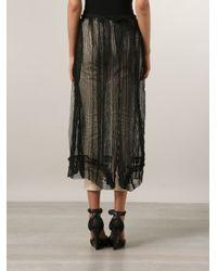 Yohji Yamamoto - Black Sheer Net Skirt - Lyst