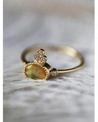 Free People - Metallic Opal Crown 5 Diamond Ring - Lyst