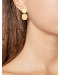 Marie-hélène De Taillac | Metallic 22kt Gold Disc Earrings | Lyst