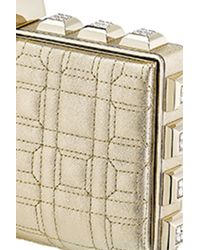Azzaro   Metallic Vendôme Quilted Clutch   Lyst
