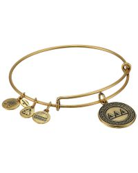 ALEX AND ANI - Metallic Delta Delta Delta Charm Bangle - Lyst
