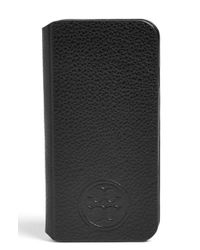 Tory Burch | Black Leather Iphone 6 & 6s Case | Lyst