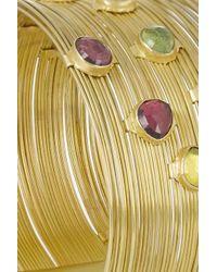 Munnu | Metallic 22-Karat Gold Tourmaline Bracelet | Lyst