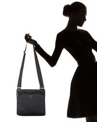 Prada | Black Vela Crossbody Bag | Lyst