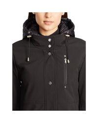 Ralph Lauren - Black Layered Hooded Coat - Lyst