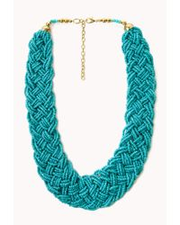 Forever 21 | Blue Statement Multi-Braided Choker | Lyst