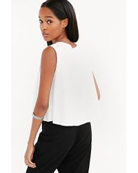 Silence + Noise - White Swingy Muscle Tee - Lyst