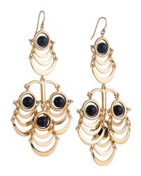 Lele Sadoughi | Blue Sandstone Beaded Orbit Chandelier Earrings | Lyst