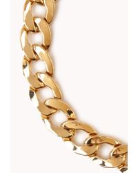 Forever 21 - Metallic Statementmaking Curb Chain Necklace - Lyst