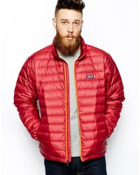 Patagonia | Red Down Sweater Jacket for Men | Lyst