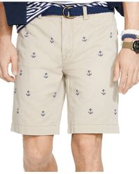 Polo Ralph Lauren - Natural Classic-fit Embroidered Chino Shorts for Men - Lyst