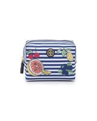 Tory Burch - Blue Printed Nylon Brigitte Cosmetic Case - Lyst