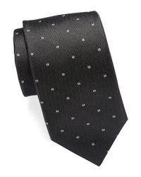 Michael Kors | Black Neat Silk Tie for Men | Lyst
