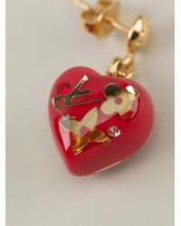 Louis Vuitton | Red Heart Earrings | Lyst
