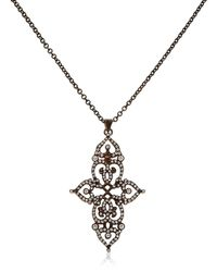 Sabine G | Gray Cross Pendant | Lyst