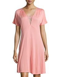 La Perla - Pink Magnolia Lace-trim Short Nightgown - Lyst