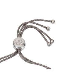 Caroline Creba - Gray Rhodium Plated Titania Friendship Bracelet - Lyst