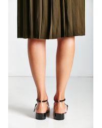 Urban Outfitters | Black Eva Colorblock Heel | Lyst