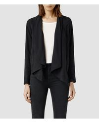 AllSaints | Black Kwar Jacket | Lyst
