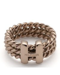 Tommy Hilfiger | Pink Rope Ring | Lyst