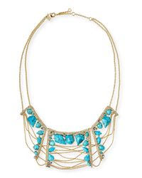 Alexis Bittar | Blue Howlite Draping-Chain Bib Necklace | Lyst