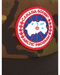 Canada Goose coats outlet official - Canada goose Logo-embroidered Camouflage-print Cap in Black (BLACK ...