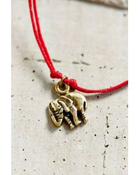 Urban Outfitters - Red Guardian Charm Bracelet - Lyst