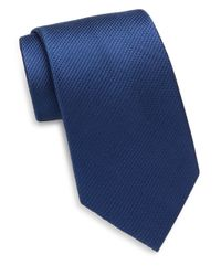 Saks Fifth Avenue | Blue Textured Silk Tie for Men | Lyst