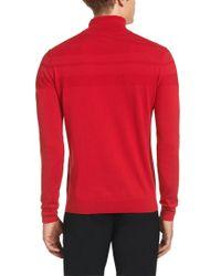 HUGO - Red 'sisanor'   Cotton Silk Cashmere Striped Turtleneck for Men - Lyst