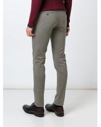 PT01 - Gray Slim Fit Trousers for Men - Lyst