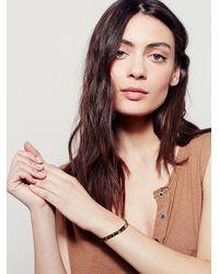 Free People - Metallic Bauxo Womens Leather Engraved Bracelet - Lyst